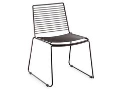 Velletri Black Indoor Outdoor Wire Dining Chair by Glid Studio for Huset