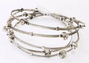 Recycled guitar string and crystal handmade bracelet set