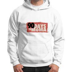 90 Days To MOMA Gildan Hoodie (on man) Shirt