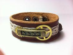 Steampunk bracelet by EdithEnDat on Etsy