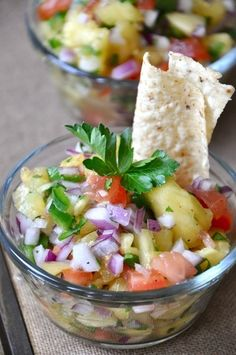 Sweet, Salty and Spicy Pineapple Salsa by corine