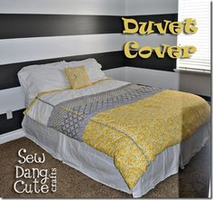 You can create a Full Size Duvet Cover to match your bedroom decor with these instructions.