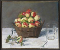Eva Gonzalès - Pommes d'Api - - Pastel on paper - Minneapolis Institute of Art Apple Painting, Fruit Painting, Manet, Women Artist, Maurice Utrillo, French Impressionist Painters, Oil Painting Gallery, Berthe Morisot, Paintings Famous