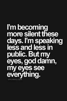 Becoming more silent