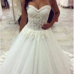 Voorjaar Liefje tule bruids trouwjurken
