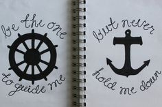 "If I see one more picture of an ancor with the quote ""I refuse to sink..."" I will die.  ANCHORS SINK PEOPLE!! That's what they're made to do..don't get that tattooed onto your body!  This is cute.. ***"