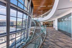 Interior view of the Public Safety Building. Photo: Dana Sohm, Sohm Photografx, courtesy of GSBS Architects.