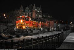 RailPictures.Net Photo: BNSF 4307 Burlington Northern Santa Fe GE C44-9W (Dash 9-44CW) at Plattsburgh, New York by Gary Knapp