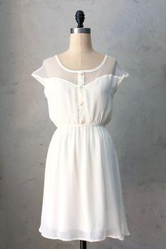 PETIT DEJEUNER CREAM - Ivory white chiffon dress // lace // brides // reception // weddings // engagement photos // bridesmaid // lwd
