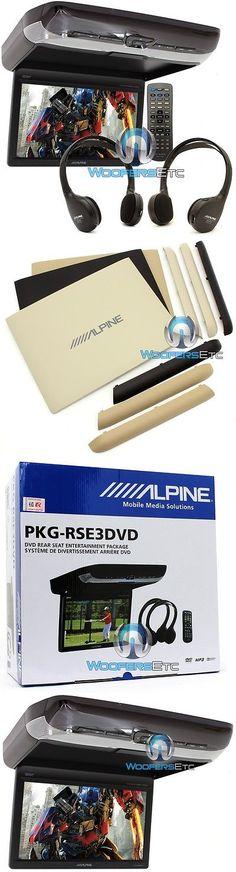 Car Monitors w o Player: Alpine Pkg-Rse3dvd 10.2 Overhead Flipdown Screen Dvd Video Monitor 2 Headphones BUY IT NOW ONLY: $599.99