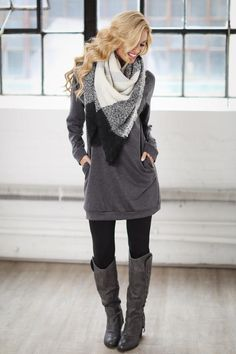 All Is Well Tunic - Charcoal