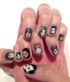 Katy Perry's Daria-inspired nail art