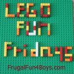 FrugalFun4Boys.com - Lego themed Fridays; build something related to xmas or Thanksgiving, etc.