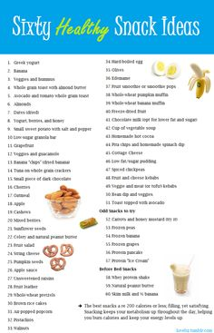 good, healthy and tasty snacks!