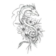 52 Trendy Ideas For Tattoo Sleeve Designs Sketch Drawings Ink - 52 Tre . - 52 Trendy Ideas For Tattoo Sleeve Designs Sketch Drawings Ink – 52 Trendy Ideas For Tattoo Sleeve - Dragon Tattoo For Women, Japanese Dragon Tattoos, Dragon Tattoo Designs, Tattoo Sleeve Designs, Tattoo Japanese, Miyazaki Tattoo, Ghibli Tattoo, Totoro, Tattoo Drawings