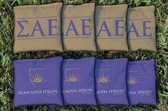 Cornhole Bag Logo Set - Sigma Alpha Epsilon 31566