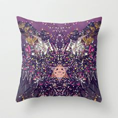 I AM HERE NOW Throw Pillow by WillpowerStudios | Society6
