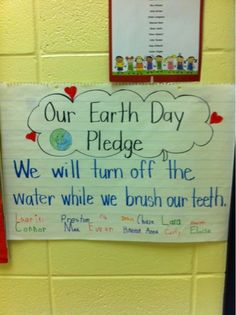 Earth Day Pledge to save water