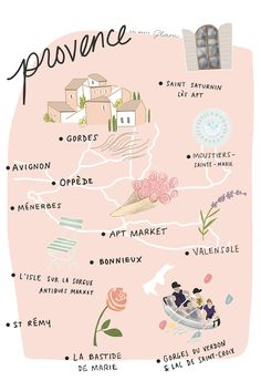 Gal Meets Glam Provence France Itinerary Map http://galmeetsglam.com/2017/08/provence-french-riviera-itinerary/