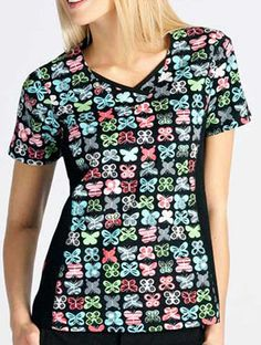Fashion Neckline with Knit Side Panels  #Knit #Side #Panels