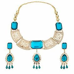 Disney Jasmine Jewelry Set -- 3-Pc. | Disney StoreJasmine Jewelry Set -- 3-Pc. - She can imagine herself the glamorous daughter of a Sultan when she wears this exotic Jasmine Jewelry Set. A golden necklace is complemented by matching earrings in this set which is the perfect accessory for her Jasmine costume.