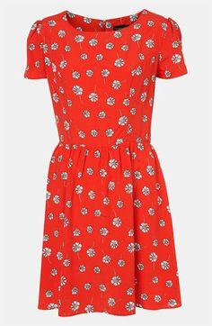 Topshop Daisy Print Dress | Nordstrom