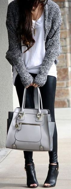 Black, white and grey outfit!