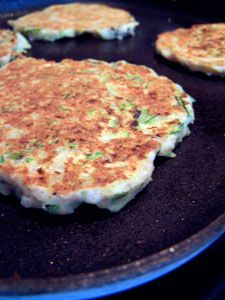 Zucchini Pancakes. Just made these. Sooo good!! Used the waffle maker :)