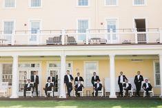 True Event, Westerly RI, RI wedding, New England wedding, Ocean House, groom, groomsmen, wedding party, adirondack chairs, lounging