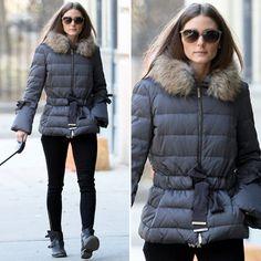 Olivia Palermo Wearing Fur Puffer Jacket | POPSUGAR Fashion