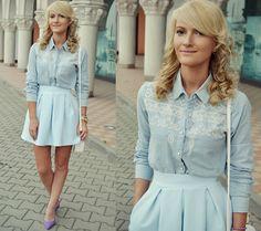 Pull & Bear Shirt, Andreea Design Skirt, Shoefever.Eu Shoes, Poema Bag