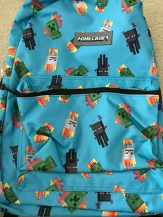 Minecraft Bag, Minecraft Characters, New Blue, School Backpacks, Free Items, School Supplies, Gift Ideas, Bags, School Bags