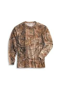 Carhartt Work Camouflage AP Long Sleeve T Shirt  is designed to last. Made of 6.75-ounce, 100% cotton jersey with a Realtree and #174; AP HD and #174; fabric pattern.