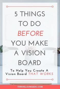 How to create a vision board. 5 things to do before you manifest what you want with a successful DIY vision board. Planner Free, Planner Ideas, Vie Motivation, Goal Board, Creating A Vision Board, Create A Board, Visualisation, Goal Planning, Setting Goals