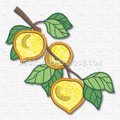 Free Embroidery Design: Fruit