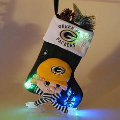 5ca5b4519938 NFL Green Bay Packers Fiber Optic Mascot Stocking - NFLShop.com Green Bay  Packers Mascot