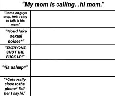 My mom is calling. hi mom meme template Drawing Meme, Drawing Prompt, Drawing Ideas, Oc Template, Templates, Writing Tips, Writing Prompts, Character Sheet Template, Personality Chart