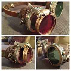 As promised in my previous post, here are my final steampunk goggles. I think these will serve nicely with my Halloween/ComicCon costume thi...