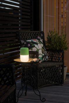 KONSTSMIDE Assisi Solar LED Leuchte zum Hängen oder Hinstellen, grün
