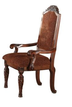 ACME 60278 Quimby Arm Chair, Cherry Finish, Set of 2 - The price dropped 10%