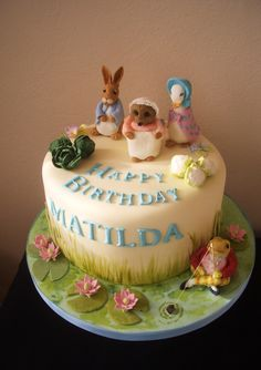 Beatrix Potter Birthday Cake.