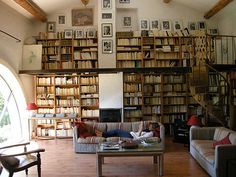 Books + Window -- this room would be perfect if it had an old, pretty rug on the floor
