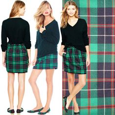 afaa71dae3 Details about Boden Size 10 L Brown Green Pink Tartan Plaid Wool A Line High  Waist Mini Skirt