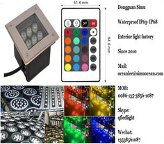 Smart RGB 6 w remote control led lighting fixture wall mounted from Dongguan simu hardware lighting co,ltd. Auto change color or RF remote control color change or infrared control Smart color change or Wifi control or DMX Control led outdoor lighting