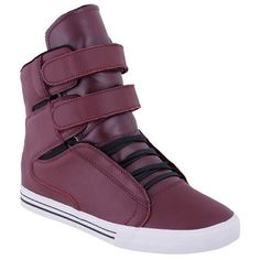 SUPRA TK SOCIETY TERRY KENNEDY PRO MODEL BURGUNDY LEATHER US SIZE 8 #Supra #Skateboarding