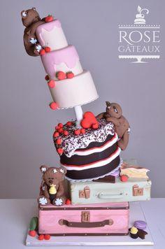 3 teddy bear by rosegateaux