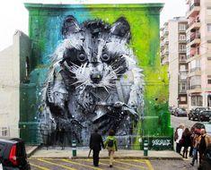 Bordalo street art