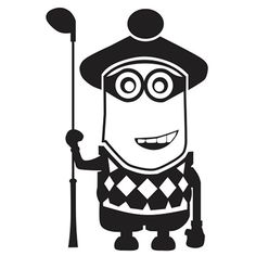 Despicable Me Minion Golfer Laptop Car Truck Vinyl Decal Window Sticker PV104