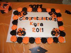 black and orange graduation cakes | Graduation — Graduation