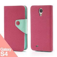 Book Billetera Rosa S4 -  Funda Samsung Galaxy S4 - La Tienda de Doctor Manzana